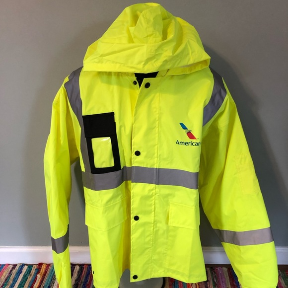 Vintage Other - American Airlines Neon Official Visibility Jacket